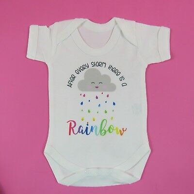 After Every Storm There Is A RAINBOW Baby Vest MIRACLE Baby Newborn Baby Gift • 9.99£