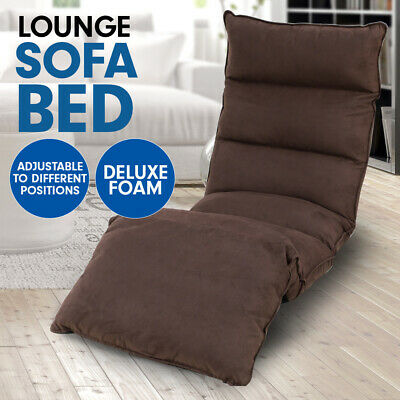 AU89 • Buy New Lounge Sofa Bed Floor Recliner Folding Chaise Chair Gaming Adjustable Brown