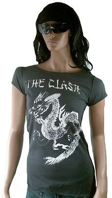 £40.57 • Buy Amplified The Clash Dragon Tattoo Strass T-Shirt ANDREA GALLO