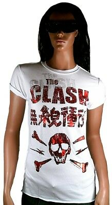 £40.12 • Buy Amplified Official The Clash Skull Rhinestone Vintage Rock Star Vip T-SHIRT G.S