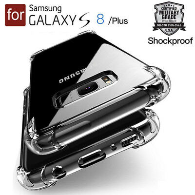 AU8.62 • Buy Ultra Thin Clear Cover Case Shock Drop Proof Impact Resist For Samsung Galaxy S8