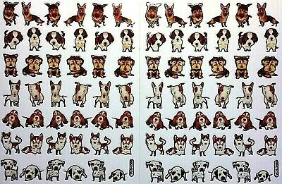 £2.19 • Buy PUPPY STICKERS X 2 Sheets, Very Cute!!! *top Quality* Dog Stickers, Gold Outline