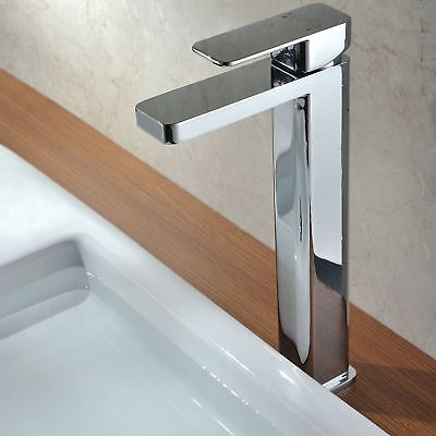 Glaza Faucet Chrome Monobloc Counter Top Tall Bathroom Sink Basin Mixer Tap • 69.99£