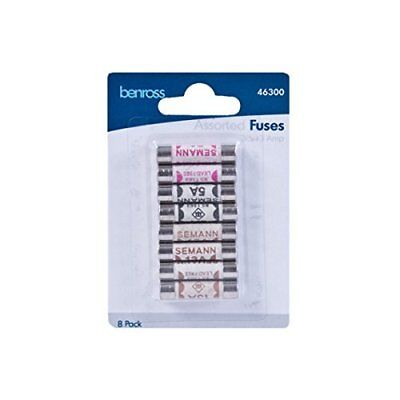 Domestic Household Ceramic Mixed Fuses 3amp - 5amp - 13amp - 8 Pack • 2.09£