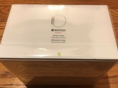 $ CDN701 • Buy Apple Watch Series 3 42mm Stainless Steel Case With Milanese Loop (GPS + Cellula