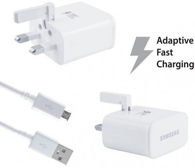 $ CDN4.32 • Buy Genuine Samsung Fast Charger Plug & Micro Usb Cable For Tablets / Note / Phones