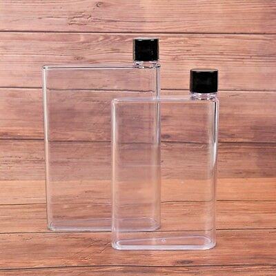 AU10.99 • Buy  Portable Memo Bottle A5 Paper Bottle Mini Transparent Flat Water Cup New Design