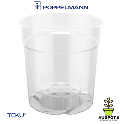 AU52.90 • Buy 150mm Clear Pots X 40pcs By TEKU - Great For Plant / Phalaenopsis / Orchids