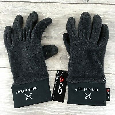 Extremities Power Fleece Mens Gloves MEDIUM Black S132-13 • 19.95£