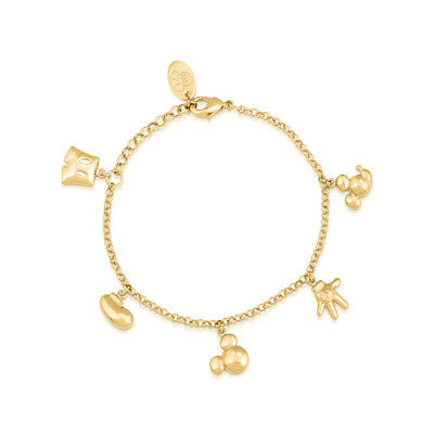 £32 • Buy Disney Couture Kingdom Mickey Mouse 90 Years G-Plated Icon Charm Bracelet