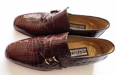 $ CDN3303.13 • Buy $5800 ARTIOLI Brown Crocodile Leather Monk Strap Shoes 6.5 US 39.5 Euro 5.5 UK