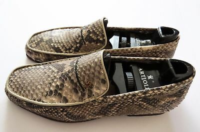 $ CDN1582.06 • Buy $2500 ARTIOLI Natural Python Leather Shoes Loafers Size 6.5 US 39.5 Euro 5.5 UK
