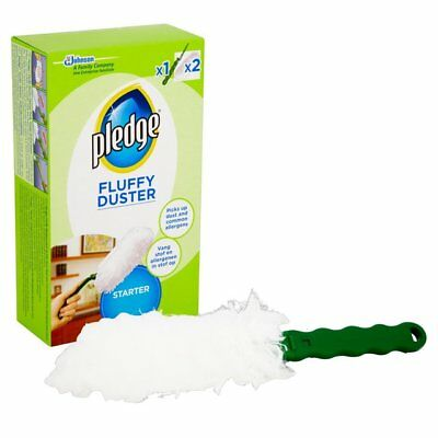 Pledge Fluffy Dusters Starter Kit Dry Dusting Cleaning Cloth Pack • 7.99£