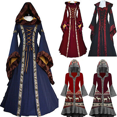 £18.82 • Buy Medieval Victorian Lolita Dress Wedding Ball Gown Hooded Goth Costume Party Slim