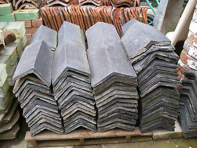 Reclaimed Staffordshire Blue Roof Ridge And Hip Tiles 18  • 5£