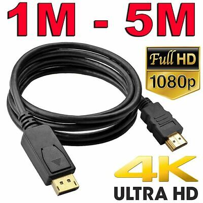 AU9.75 • Buy Displayport DP To HDMI Cable Male To Male HD 1080P High Speed Display Port Lead