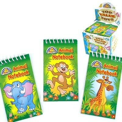 £2.89 • Buy 6 X Mini Jungle Animal Spiral Notebooks - Party Bag Fillers - 3 Designs