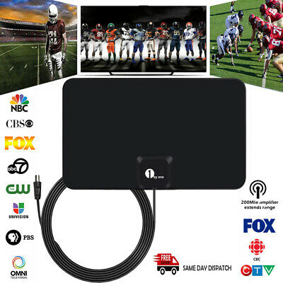1byone Indoor Digital Antenna 50 Mile TV Amplified Aerial UHF Freeview HDTV DVB • 11.99£