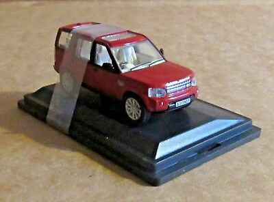 Oxford Diecast Land Rover Discovery 4 Firenze Red 1:76 Scale Model Car Toy • 7.30£