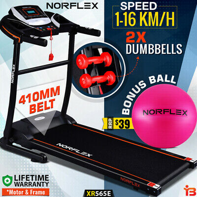 AU499 • Buy NORFLEX Electric Treadmill Home Gym Ball Exercise Machine Fitness Equipment