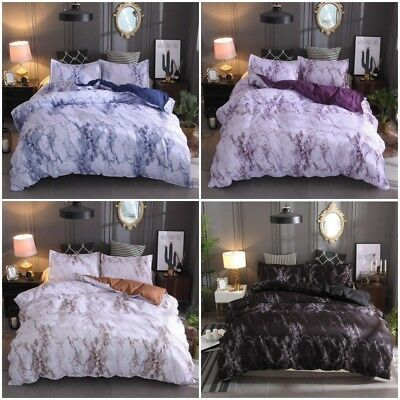 AU36.65 • Buy Marble Doona/Duvet/Quilt Cover Set Single Double Queen King Size Bed Pillowcase