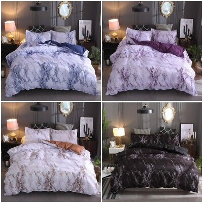 AU33.31 • Buy Marble Doona/Duvet/Quilt Cover Set Single Double Queen King Size Bed Pillowcase