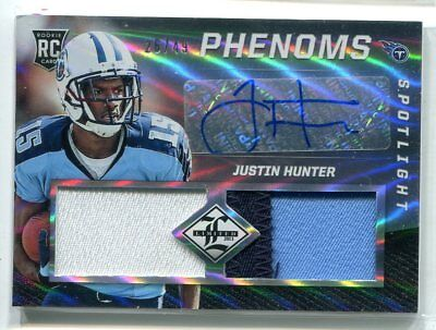 $3.99 • Buy 2013 Limited Justin Hunter Phenoms DUAL PRIME PATCH RELIC AUTO RC 26/49 TITANS