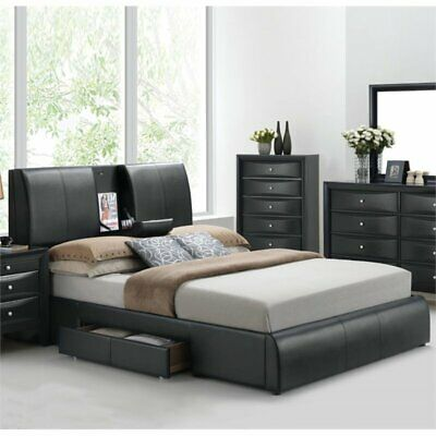 $646.33 • Buy Bowery Hill Upholstered Queen Panel Bed With Storage In Black