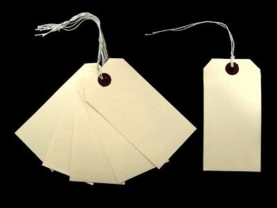 £1.95 • Buy Luggage Labels Large Tags Swing Tickets Cream Manila String Tie On Tags