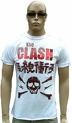 £38.41 • Buy Hot Amplified Official The Clash Skull Rhinestone Foil Rock Star Vintage T-Shirt