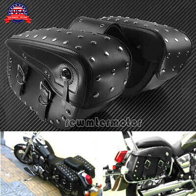 $299.99 • Buy Motorcycle Nails Style Saddle Bags Luggage Tool Bags Fit For Harley Yamaha KTM