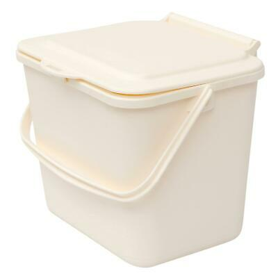 £7.99 • Buy Cream 5L Kitchen Compost Caddy/Food Recycling Waste Bin – 5 Litre