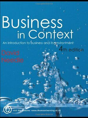 Business In Context By Needle, David Paperback Book The Cheap Fast Free Post • 5.99£