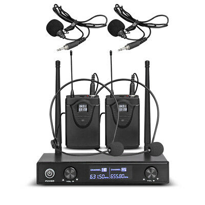 AU89.99 • Buy 2 Channel UHF Lavalier/Lapel Wireless Microphone System Frequency B