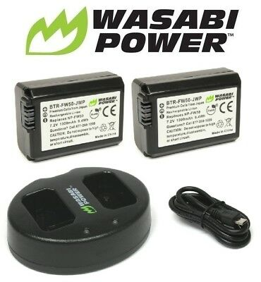 $ CDN52.98 • Buy NP-FW50 Wasabi Battery X2 & Charger For SONY Alpha A5000,A5100,A6000,A6300,A6500