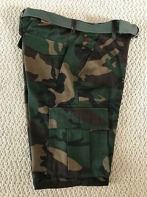 $14.99 • Buy NWT Men's Swaggers Green Camouflage Camo Cargo Pocket Shorts W/ Belt SIZES 38-42