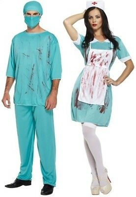 $ CDN44.08 • Buy Couples Men AND Ladies Zombie Doctor Nurse Halloween Fancy Dress Costumes Outfit