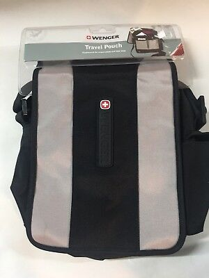 Swiss Gear Black/Gray Travel Organizer Bag W/ Shoulder Strap NWT • 18.56£