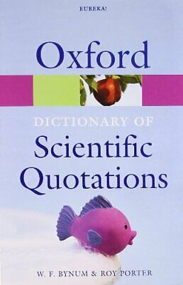 £3.49 • Buy Oxford Dictionary Of Scientific Quotations (Oxford Paperback Refere... Paperback