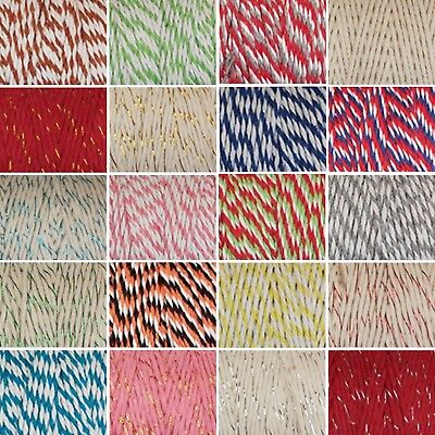 £0.99 • Buy 1 Metre Bakers Twine 12 Ply / 2mm String Cord - Choice Of 20 Colours