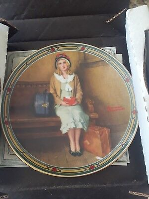 $ CDN20 • Buy Edwin M Knowles China Co Norman Rockwell Collector Plate  A Young Girls Dream