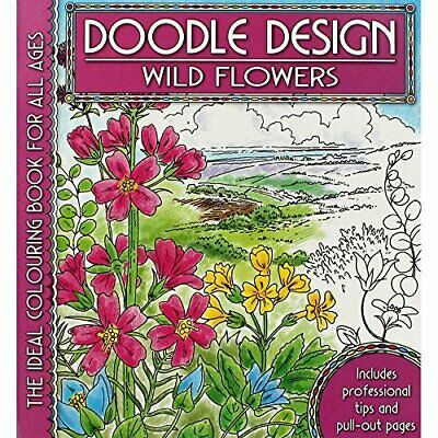 Wild Flowers (Doodle Design S.) Paperback Book The Cheap Fast Free Post • 5.99£
