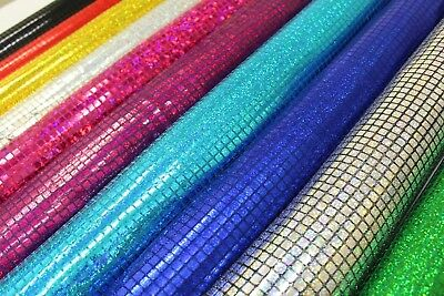 £5.25 • Buy Square Hologram Sequin Fabric Shiny Sparkly Fancy Dress Dance Material 44  Width