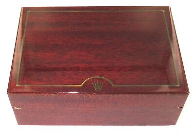 .1990s ROLEX 69.00.02 POLISHED WOODEN DISPLAY BOX FOR DAYTONA & YACHT-MASTER. • 197.41£