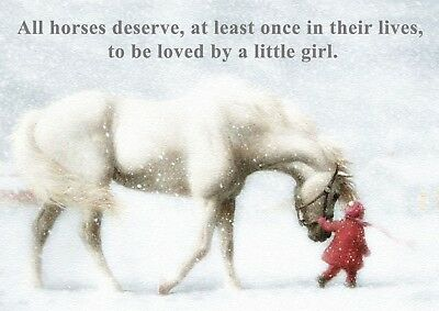 £3.75 • Buy Horse Pony Child Love Photo Poster Print ONLY Wall Art A4