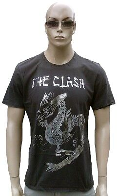 £40.20 • Buy Amplified Official The Clash Silver Foil Dragon Vintage Rock Star Vip T-shirt L