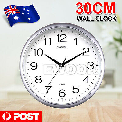 AU12.95 • Buy Silent Non-Ticking Quartz Wall Clock Decorative Indoor Quartz Analogue Clock