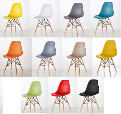 £44.99 • Buy Set Of 4 Dining  Chairs Retro Wooden Legs Office Kitchen Lounge Chair
