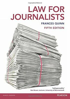 £4.99 • Buy Law For Journalists By Quinn, Frances Book The Cheap Fast Free Post