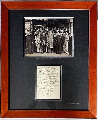AU3380 • Buy Rugby League Australian Kangaroos At Leeds 1937/1938 Original Autographs